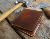 Leather Wallet - Mens Leather Wallet - A Handmade Bi-fold Leather Wallet - Leather Billfold Wallet