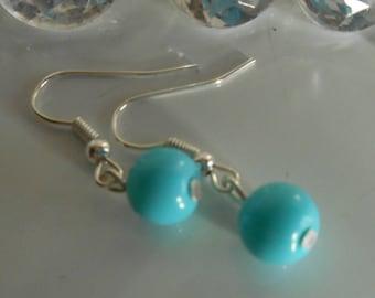 Wedding earrings turquoise beads