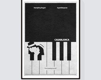 Casablanca Minimalist Alternative Movie Print & Poster