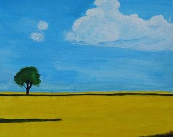 Open field Acrylic Painting