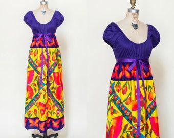 1970s Maxi Dress --- Vintage Young Edwardian Dress