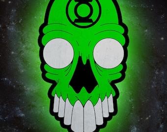 Green Lantern Corps Skull *PRINT*