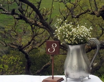 Rustic Table Numbers - Wood - Rustic Wedding - Table Decoration - Farmhouse Wedding Decor