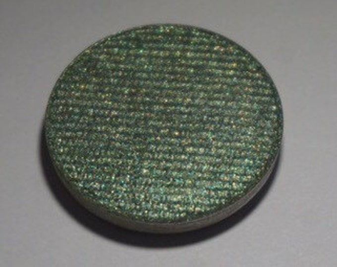 Pisces Pressed Eyeshadow - Semi Sheer Green with hints of Yellow and Bright Gold Duochrome Shift