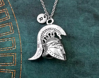 Spartan Necklace LARGE Spartan Helmet Necklace Spartan Warrior Necklace Personalized Jewelry Sparta Necklace Spartan Gift Spartan Helm Charm