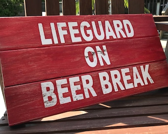 Pool Signs, Pool Decor, Pool, Lifeguard, Pool Decorations, Swimming Pool, Wood Sign, Pool Sign, Lifeguard Sign, Wooden Pool Sign