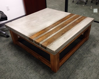 concrete and wood furniture. Concrete \u0026 Wood Coffee Table And Furniture