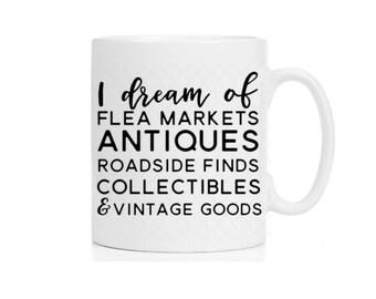 Farmhouse Mug   Junk Finding   Vintage  Hunter Mug   Collecter Mug   Flea Market Antique Mug   Mug for her   Gifts for her  