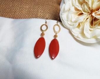 Balinese Red Jasper Earrings