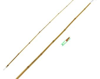 """Tom Sawyer's Mississippi Bamboo Fishing Cane Pole Rod 78"""" w/ Bobber Hook & Line"""