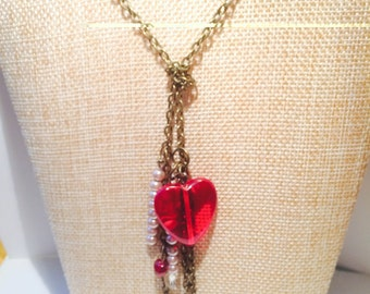 Knotted Heart Necklace - Complimentary Earrings with purchase!