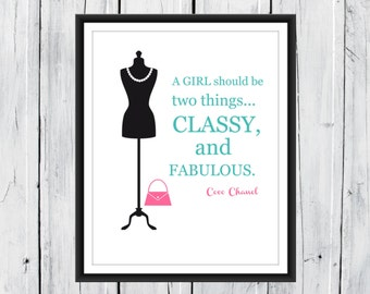 Dorm Decor - Teen Girl - A Girl Should be....
