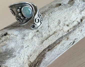 Mexican opal ring silver925