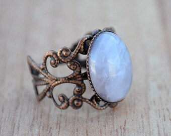 Rose quartz copper ring, Rose quartz ring, Quartz brass ring, Quartz ring, Oval cabochon quartz ring, Ring rose quartz, Copper ring quartz.