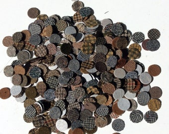 300 PLUS  - 3/4 inch wool penny rug circles on fusible web - mixed