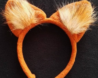 Fox headband/girl fox headband/fox costume/fox dress up/ handmade costume