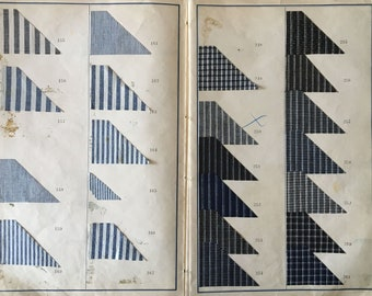 Collection of 19th C. French Cotton Checks, Stripes and Chambray Fabrics (811)