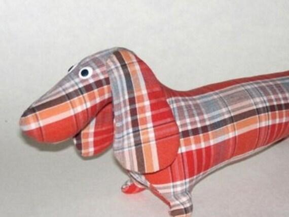 dog sewing pattern, dog Pattern, dog soft toy pattern, dachshund ...