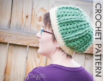 CROCHET PATTERN - Mountain Ridge Beanie