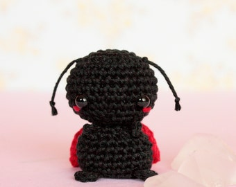 Ladybug crochet miniature animals, Crochet ladybug gifts, Amigurumi lady bug, Stuffed animals plushies, Cute plush ladybug, Knitted animals