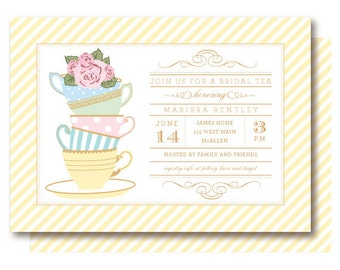 Bridal Tea Shower Invitations