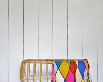 original woodwoolstool harlequin pattern