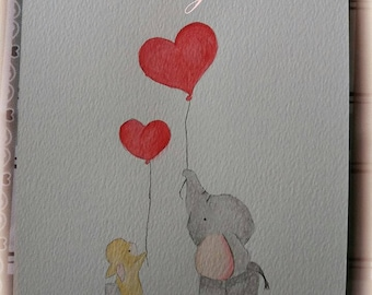 Watercolor - friend for ever