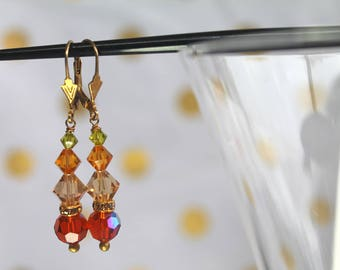 Autumn Crystal Dangles