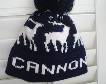 Personalized knit hat - Cannon