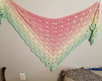 Handmade shawl/beach wrap cover up