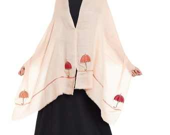 Dusty Pink Fusion Cashmere Scarf - Hand Woven