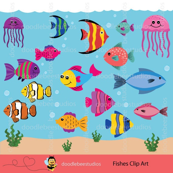 Fishes Clipart Fish Clipart Sealife Clipart Tropical Fish