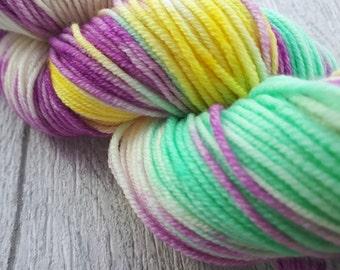 Crocus - DK Merino Superwash Double Knit Hand Dyed Yarn Light Worsted