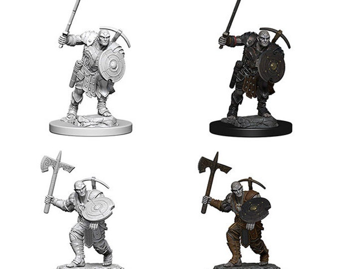 Pathfinder Minis: Wave 4 - Earth Genasi Fighter - 73203 - WizKids