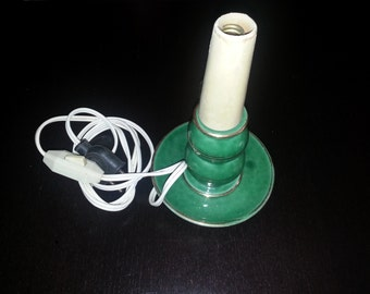 Vintage green ceramic lamp base