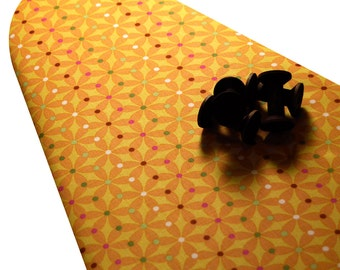 PADDED Ironing Board Cover with ELASTIC around EDGES made with Erin McMorris Summersault pinwheels fabric select your size
