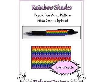 Bead Pattern Peyote(Pen Wrap/Cover)-Rainbow Shades