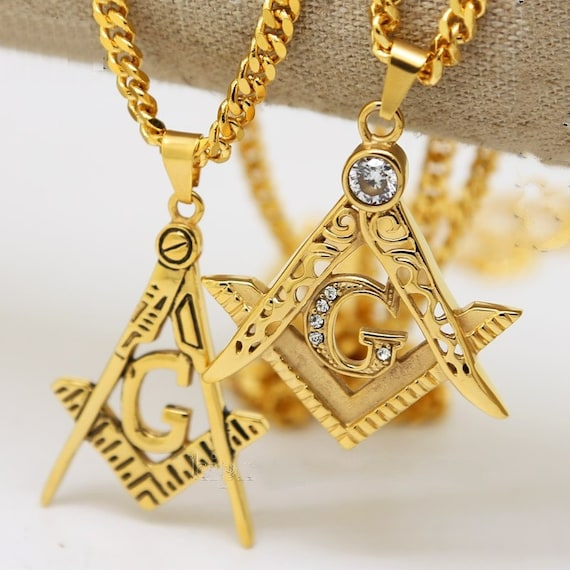 Mens stainless steel masonic illuminati symbol 24k gold plated free mens stainless steel masonic illuminati symbol 24k gold plated free mason g compass pendant freemason 24275 cuban chain necklace hiphop from makecharms aloadofball Gallery