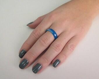 Casual ring, Agate ring, Gemstone ring, Gemstone stacking ring, Sparkle ring, Healing ring, Band ring, Faceted ring,