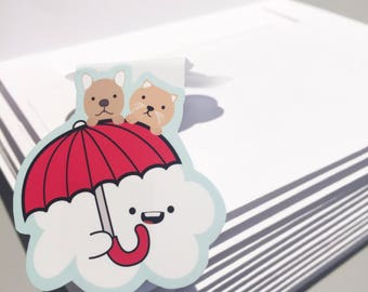 It's Raining Cats and Dogs Magnetic Bookmark (Jumbo)