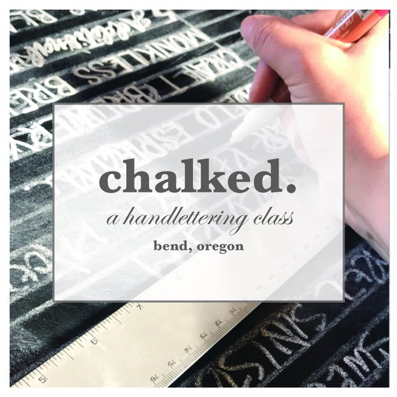 Hand Lettering Class —Bend, OR | Learn to Hand letter | Hand Lettering Basics | Local Art Class | Chalked Creative Class