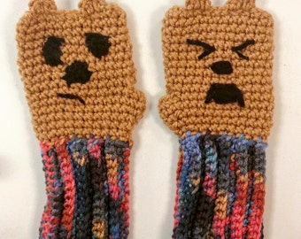 SALE!! Don't Poke the Bear Fingerless Mittens