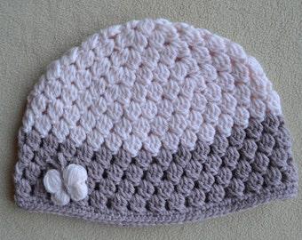Baby girl hat, baby shower gift, baby hat, crochet hat, baby shower, baby summer hat, baby beanie, knitted beanie, baby photo props