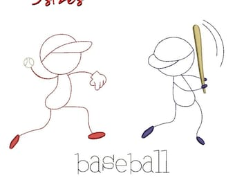 Baseball  players embroidery designs pes design sport pattern funny hoop outline 4x4 5x7 6x10