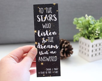 To The Stars Who Listen Bookmark - Court Book Series