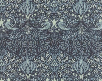 Moda WILLIAM MORRIS 2017 Quilt Fabric 1/2 Yard By V & A Museum - Indigo 7301 21
