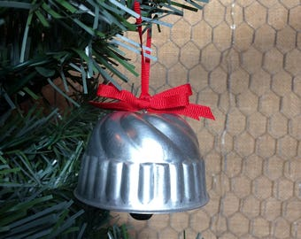Christmas Bell Ornament from Vintage Gelatin Mold