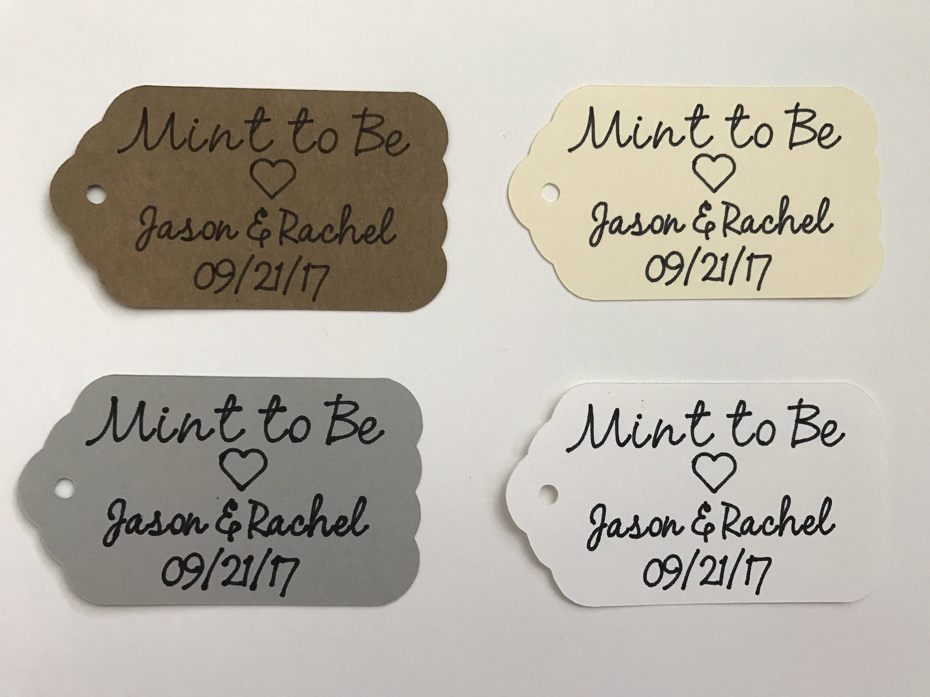 Personalized Mint to Be Favor Tags Wedding Favor Tags