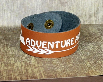 Adventure Awaits Leather Cuff