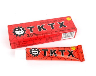 TKTX 39% Stronger RED Numbing Tattoo Body Anesthetic Fast Skin Numb Cream
